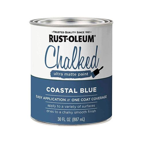 Pintura Tizada Chalk Paint Brochable Azul Costeño 0,887 L Chalked Rust Oleum