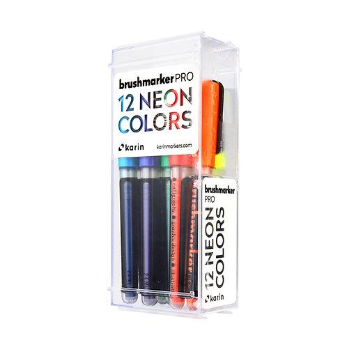 Set Marcadores Karin Brushmarker PRO -Colores Flúor
