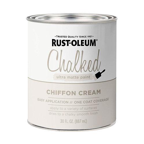 Pintura Tizada Chalk Paint Brochable Crema Gasa 0,887 L Chalked Rust Oleum