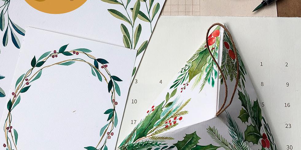 DIY - Tarjetas navideñas - Técnica de Acuarelas