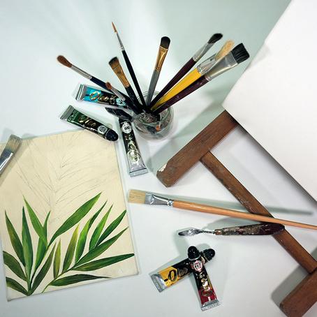 PINTAR con ÓLEOS / Diseño Botánico (principiantes)