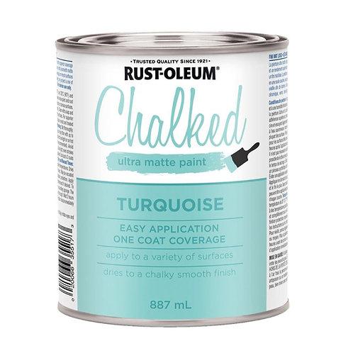 Pintura Tizada Chalk Paint Brochable Turquesa Aguamarina 887 L Chalked Rus