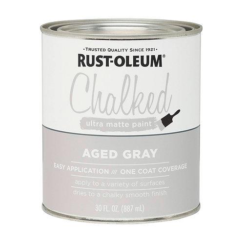 Pintura Tizada Chalk Paint Brochable Gris Envejecido 0,887 L Chalked Rust Oleum