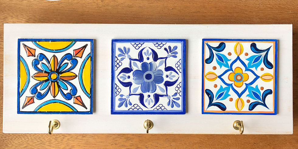 DIY - Portallaves - Técnica imitación azulejos