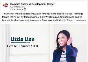 Liem Le featured by Women's Business Devlopment Center
