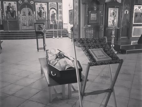 Тело дьякона Александра Шевченко доставлено в храмТело дьякона Александра Шевченко доставлено в храм
