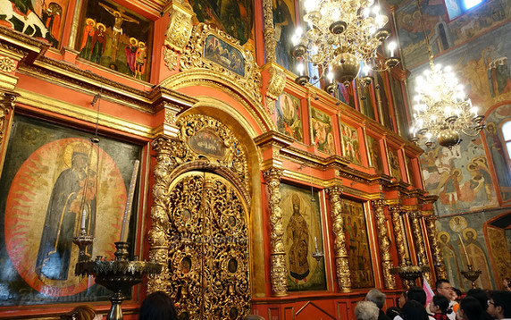 Архиерейская служба в Архангельском соборе Московского Кремля