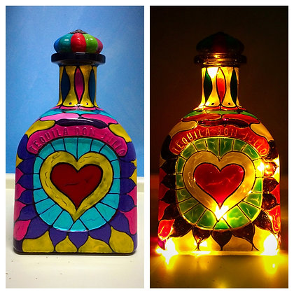 """Heart"" Tequila Bottle Lamp"