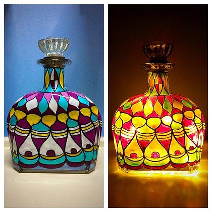 Peacock - decanter lamp