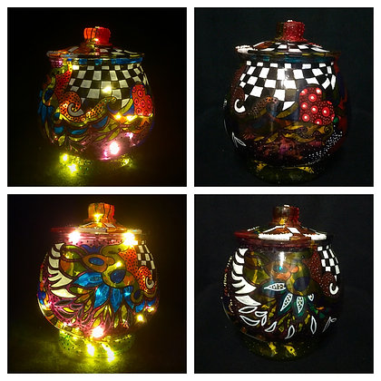 """Candy Bowl"" bottle lamp"