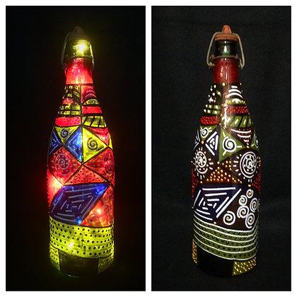 Aboriginal Pattern Bottle Lamp