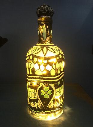 Emerald Clover Bottle Lamp