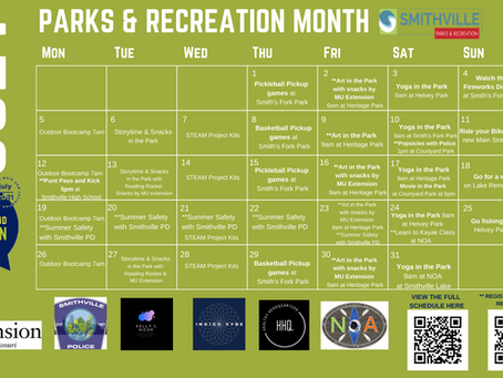 July is Parks and Recreation Month