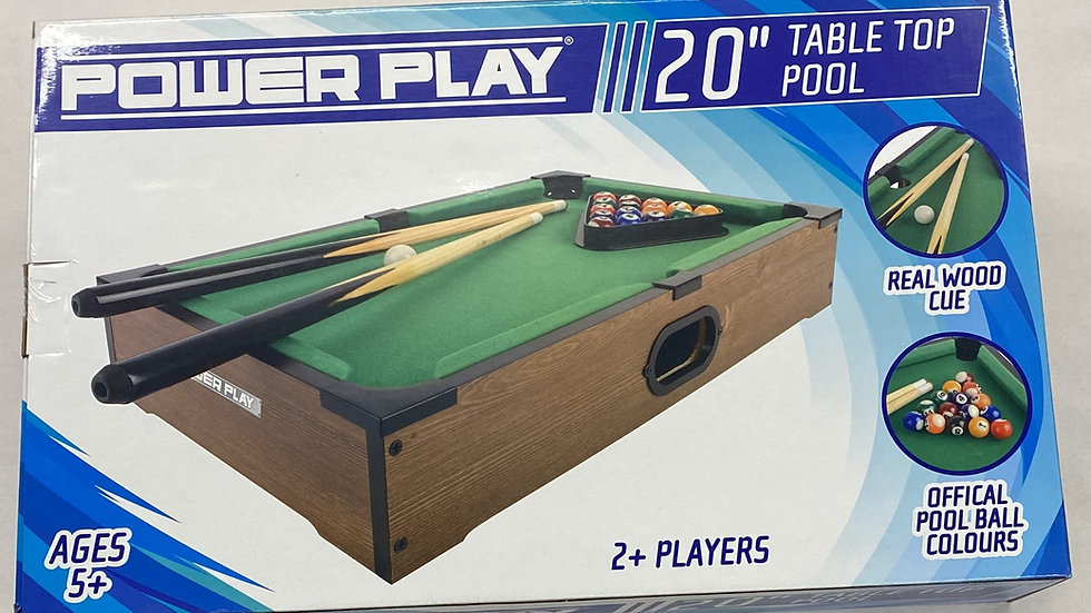 "Power Play   - 20"" Pool Table"