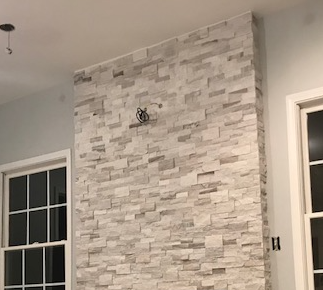 Residential Remodel - Fireplace Stonework