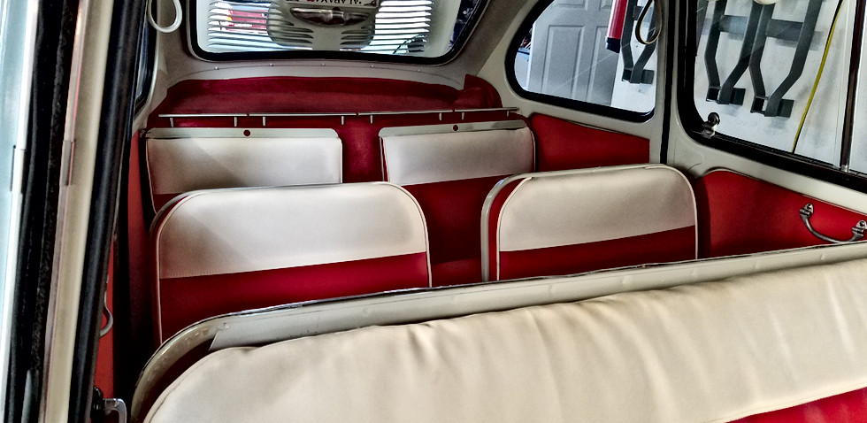 New Rear Seat Upholstery
