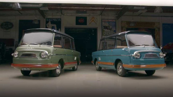 Only 2 surviving Fiat 600 Multipla Mirafioris visit Jay Leno's Garage