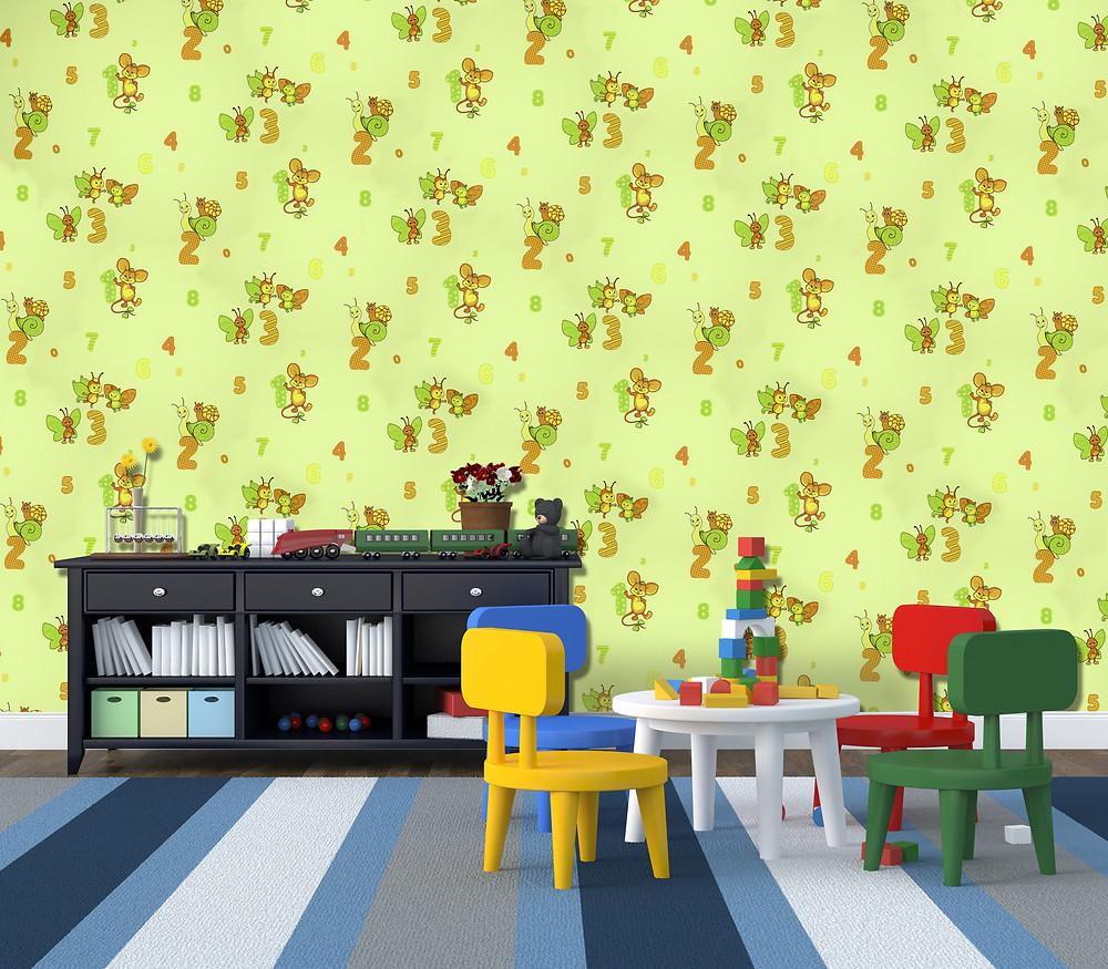 Wallpaper for Children's room, SkiptonWall wallpaper