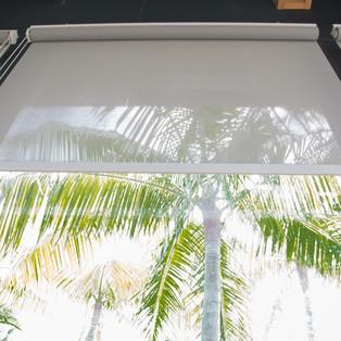 grey sunscreen roller blinds