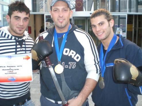 Con l'allievo Ivan Fiore e il Coach Dani