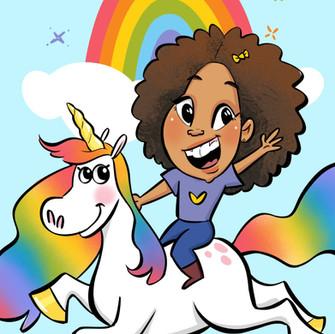 Spotlight: Magical Unicorn Caricature Theme