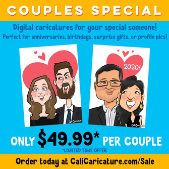 Digital Caricatures: Couples Special (Limited Time Offer)