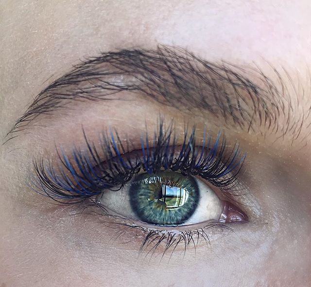 Blue Ombré lashes