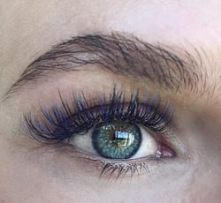 Blue Ombré lashes