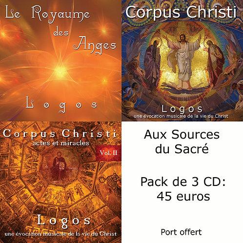 Pack 3 CD : Aux Sources du Sacré