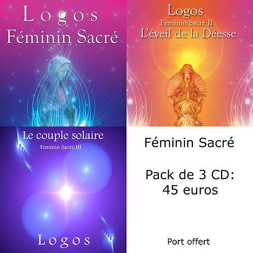 Pack 3 CD : Féminin Sacré