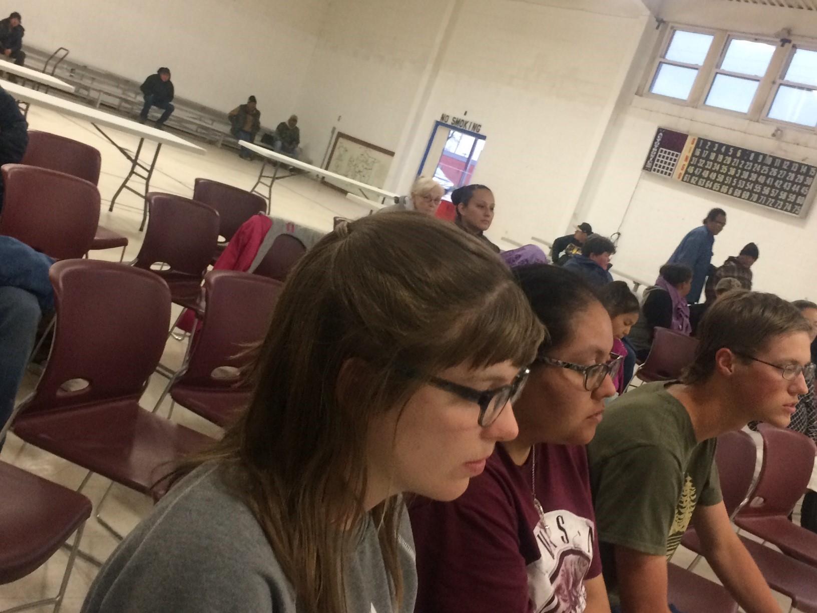 Students at Lakota Community Center