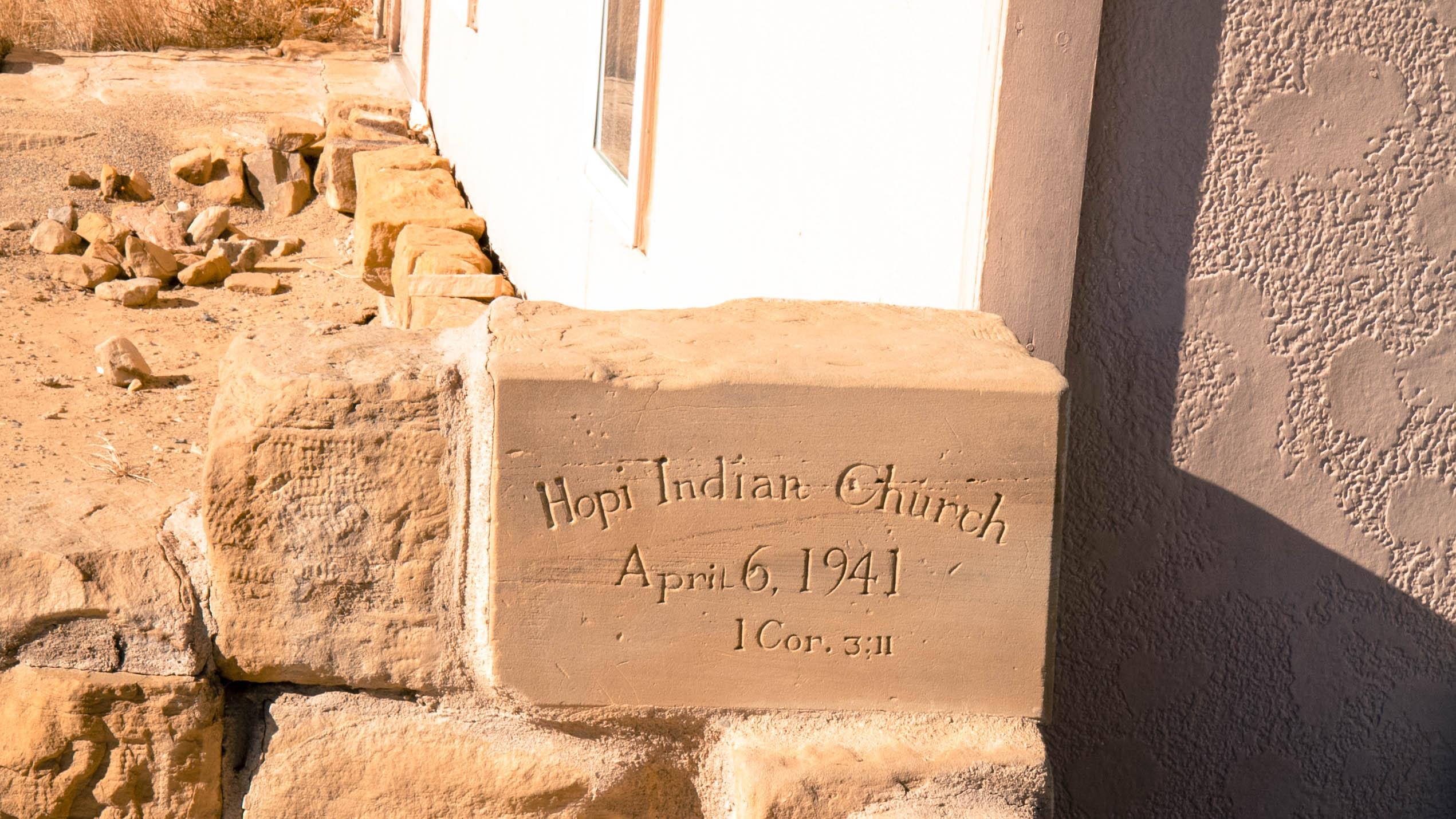 Menonite Church Foundation Stone