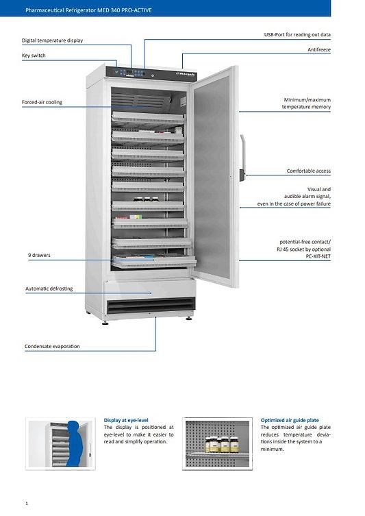 Kirsch pharmaceutical fridge_MED_340_PRO