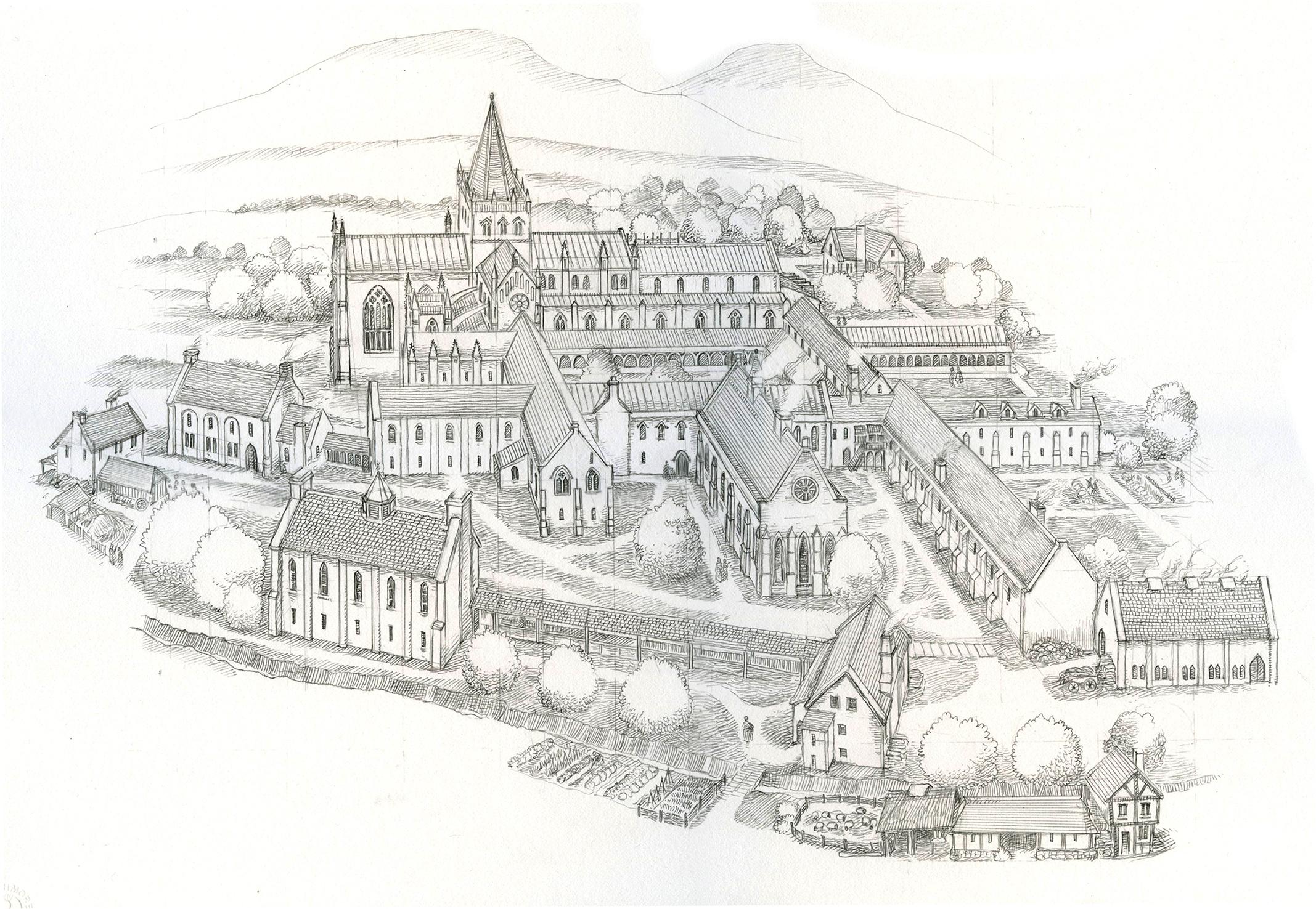 Melrose Abbey Whole View