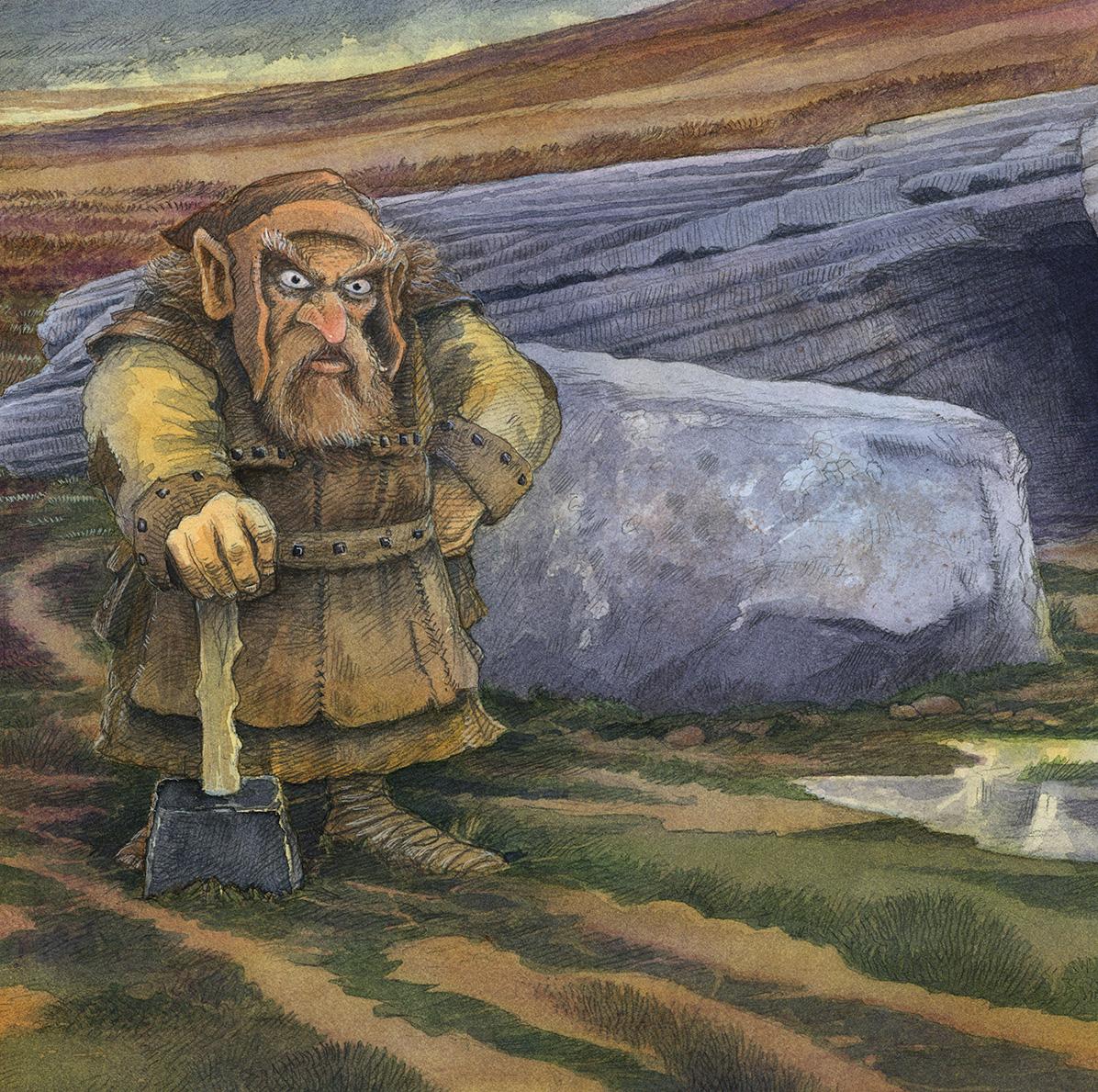 Dwarfie Stane, Norse Dwarf Crop LR