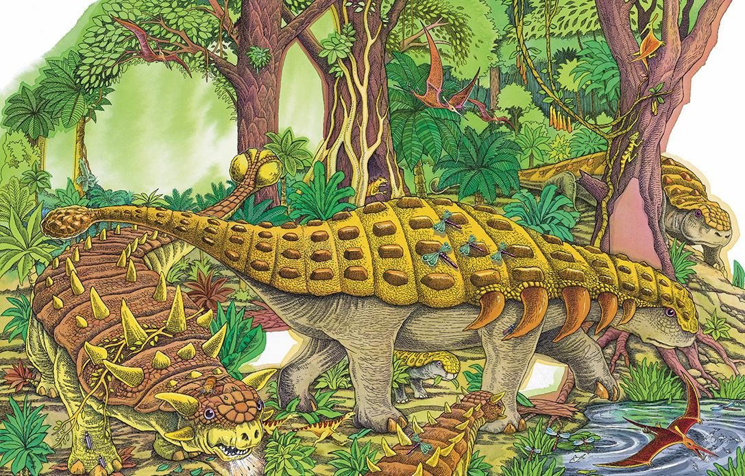 Dinosaur, paper cut out book