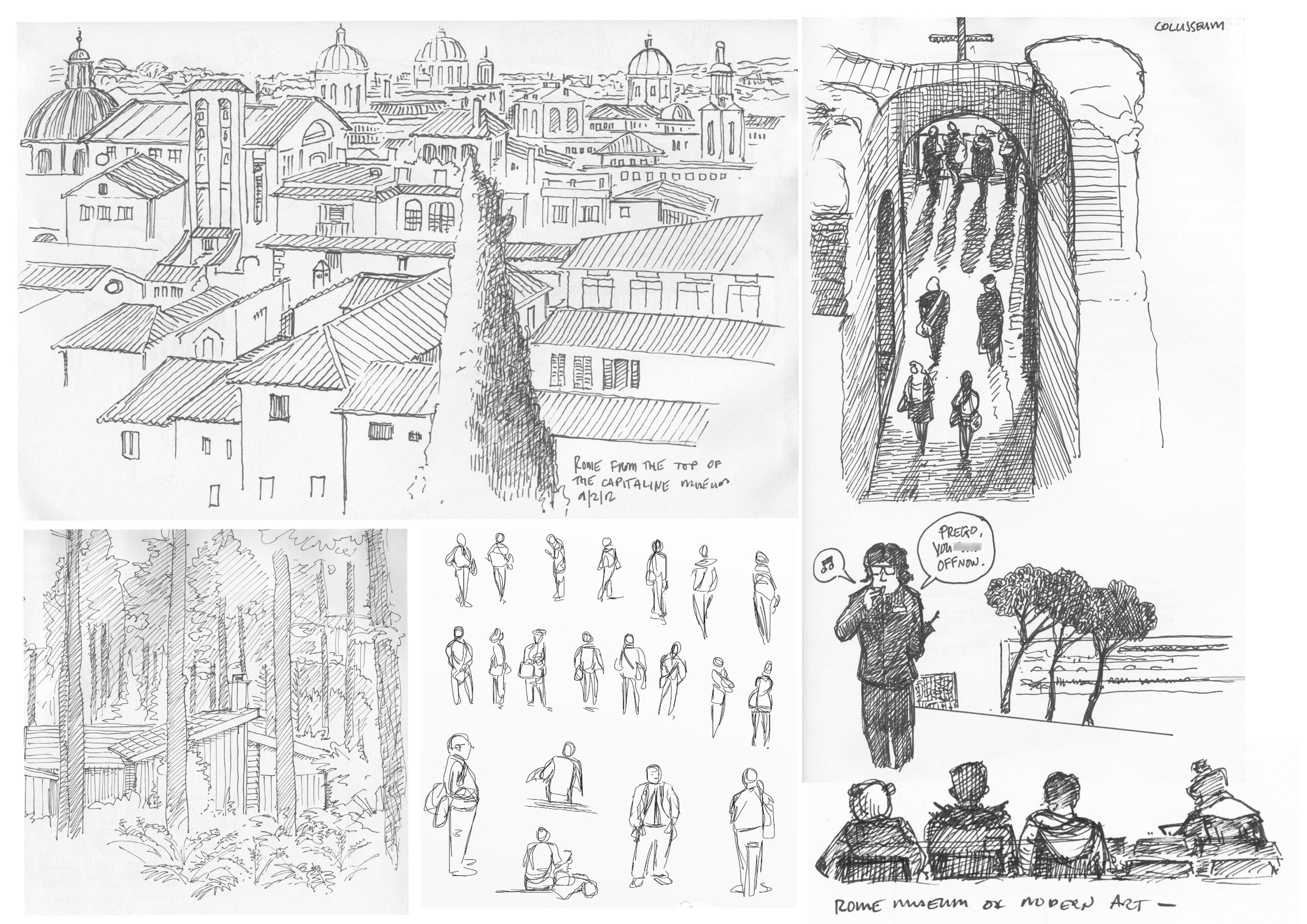 Sketch book Rome