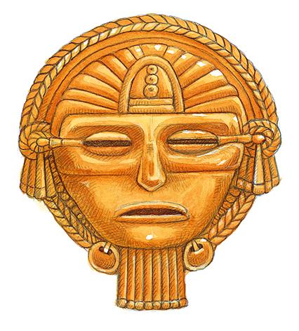 Aztec Gold Mask