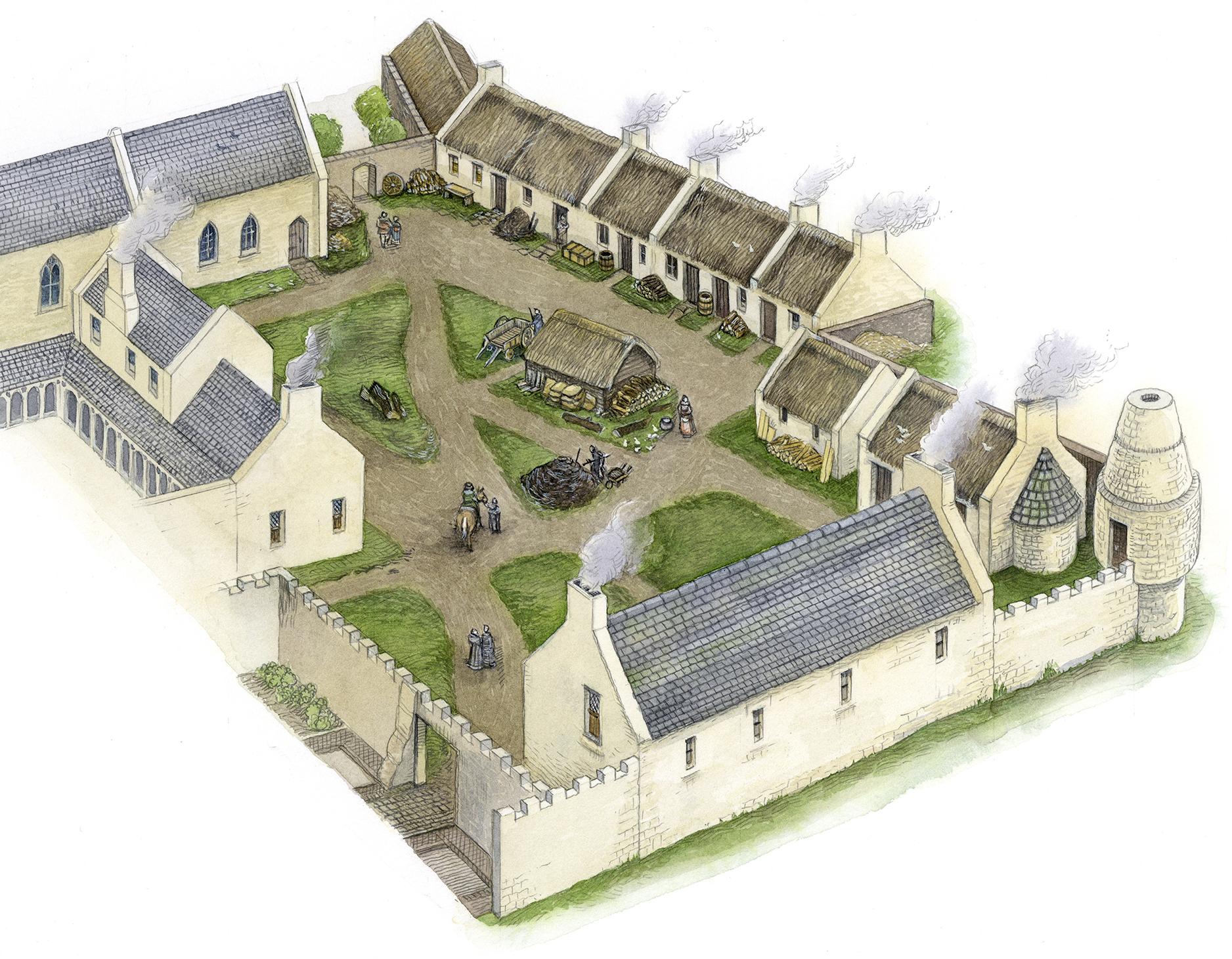 Crossraguel Abbey, South Range Recon' LR