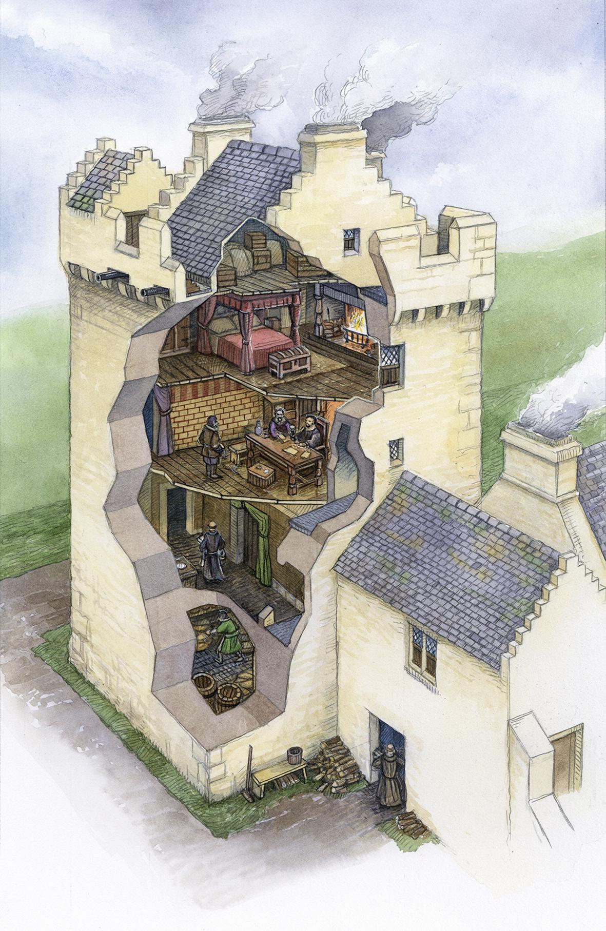 Crossraguel Towerhouse Cutaway LR
