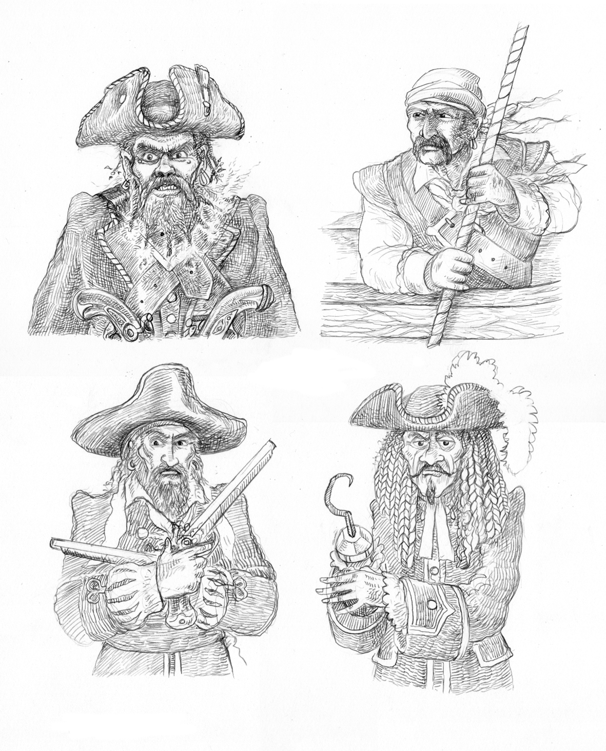 Pirate Sketches ©CUP