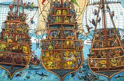 Pirate ship stern View