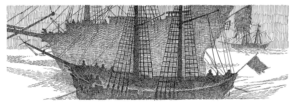 Foggy Ships