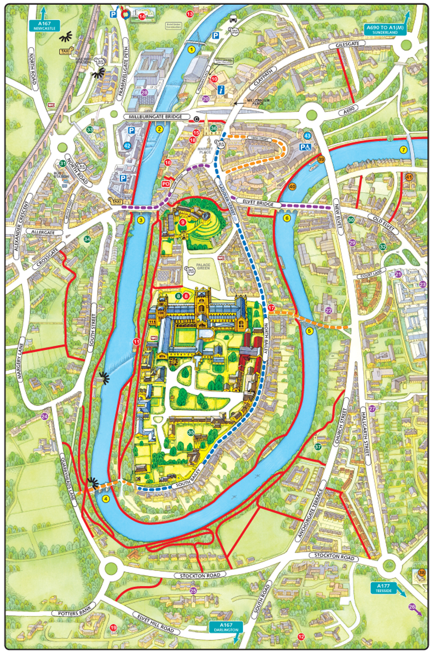 Durham City Map