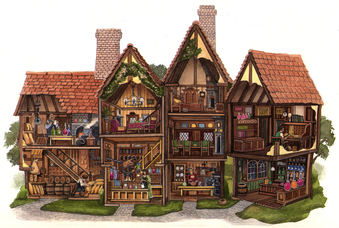 The Apothecary's shop cutaway