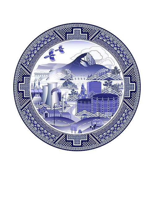 Willow Pattern Roseberry A2