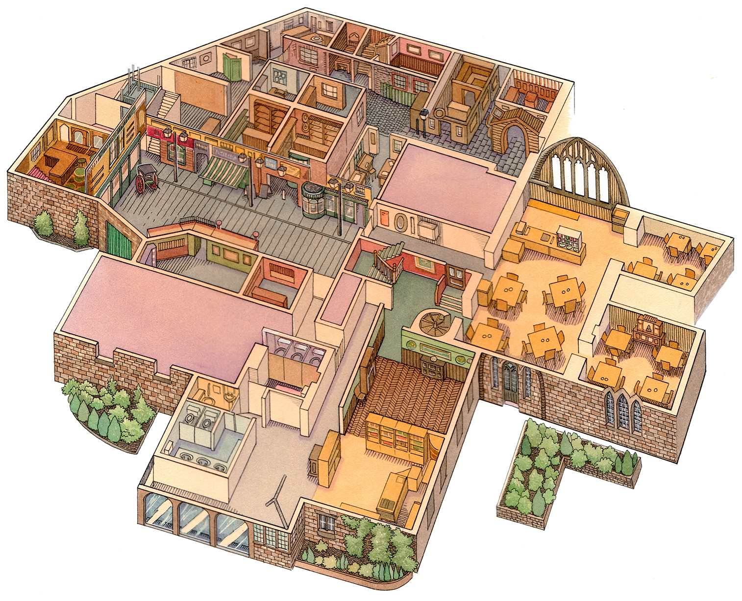 Kirkstall Abbey Floorplan