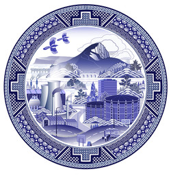 Roseberry Willow Pattern