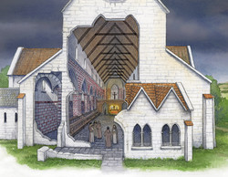Melrose Abbey Galilee Porch