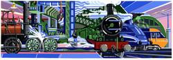 Museum Train Mural Design